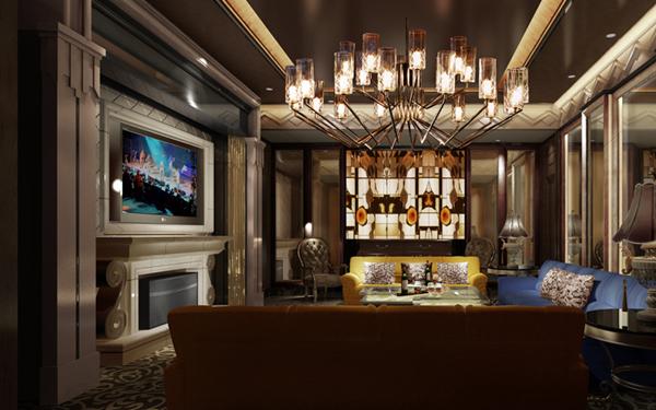 杭州东方魅力餐厅室内配色非常的好